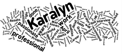 Karalyn's Wordle Image